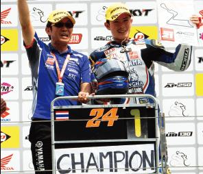 アピワット・ウォンタノン選手がFIMアジアロードレース選手権AP250クラスでチャンピオン獲得